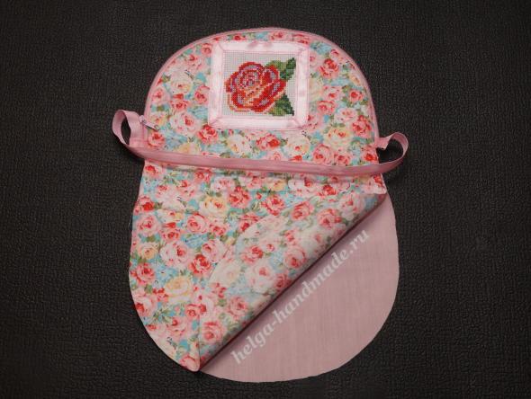 Косметичка с ручной вышивкой своими руками