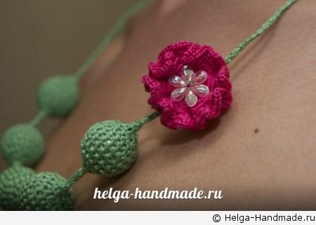 Слингобусы с вязаным цветком