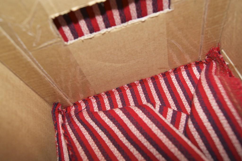 Как сделать коробку с тканью