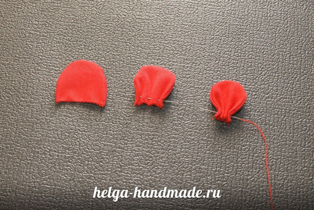 Лепестки для розы своими руками из ткани