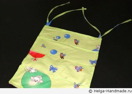 Как сшить карман в детскую кроватку своими руками 416