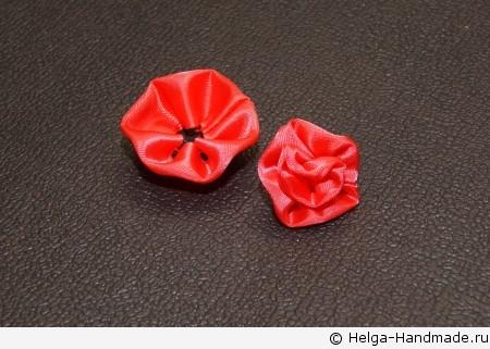 Мастер-класс.  Легкий способ сделать цветок из атласной ленты.