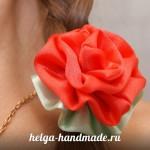 Цветок из атласной ленты или ткани