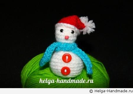 Вязаные игрушки   Как связать снеговика своими руками