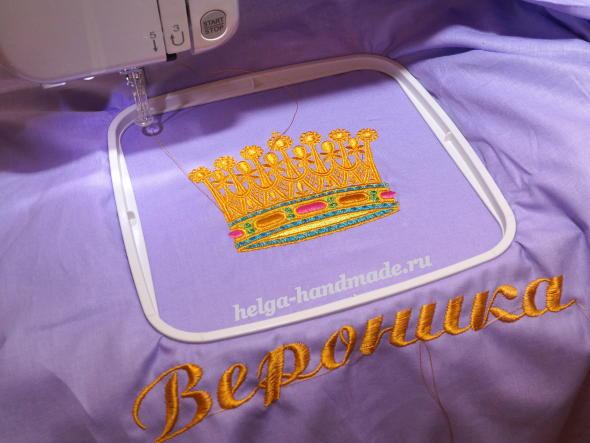 Делаем вышивку на вышивальной машине