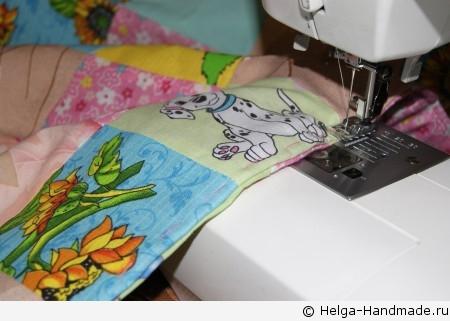 Детское лоскутное одеяло/покрывало своими руками
