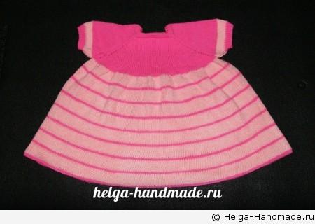 Как связать платье для девочки своими руками