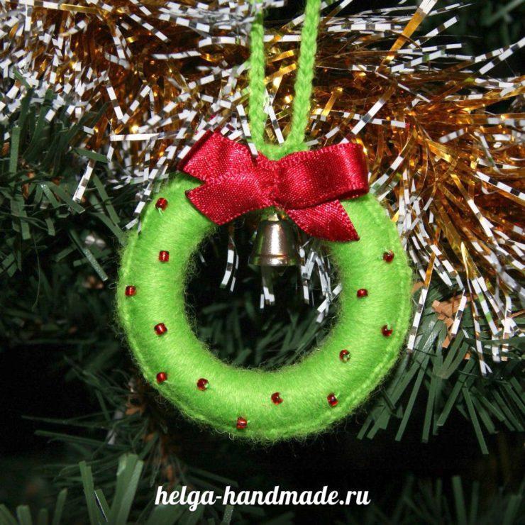 Делаем рождественский венок своими руками