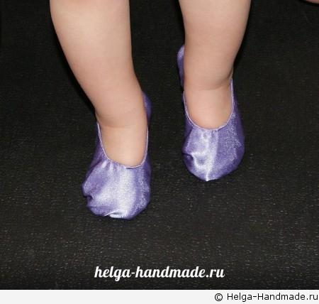 Шьем детские балетки своими руками