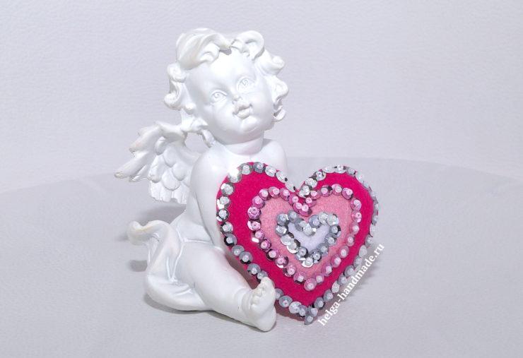 Валентинки в форме Сердца ко Дню Влюблённых своими руками