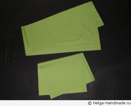 Из ткани вырезаем детали