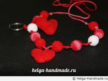 Слингобусы с объемным вязаным сердечком