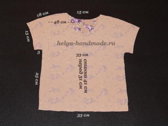 Выкройка детской футболки