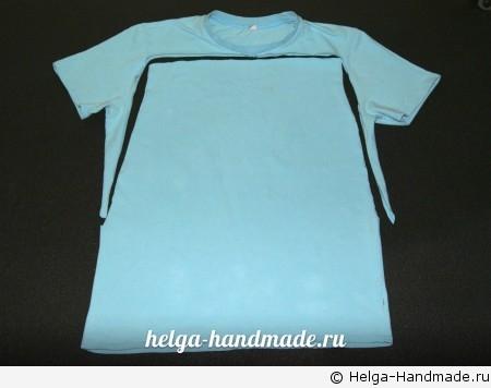 Отрезаем лишнее от футболки