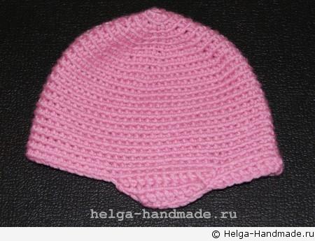Детская вязаная шапочка с ушками своими руками