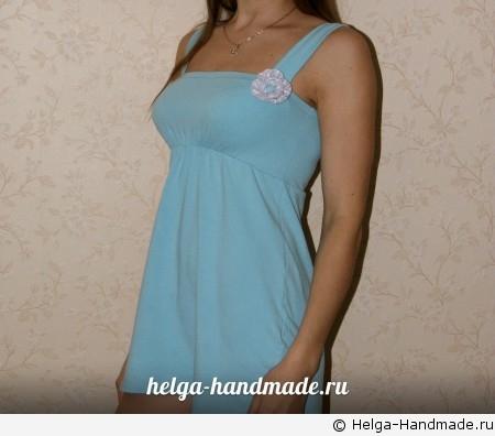 Платье из футболки для девушки своими руками 40