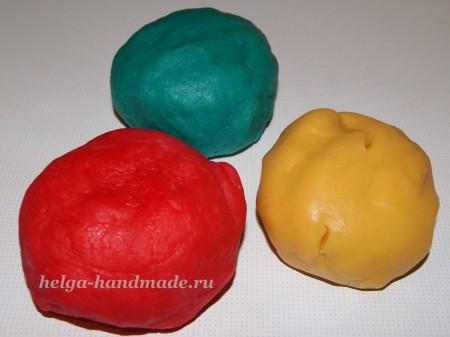 Тесто для лепки разных цветов