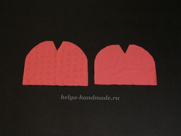 Вырезаем детали для детской трикотажной шапочки