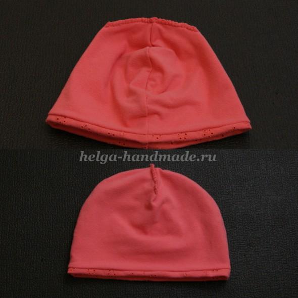 Трикотажная шапочка (вид с изнанки)