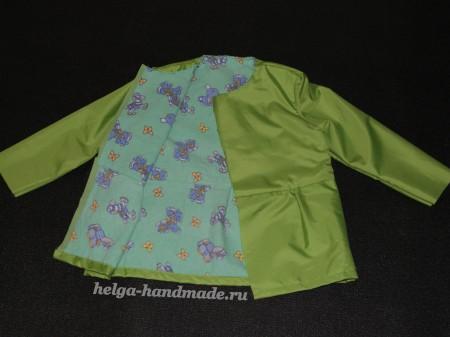 Шьем детскую куртку для девочек своими руками