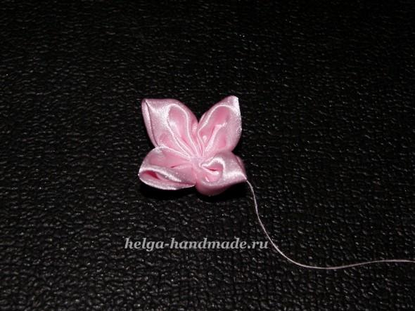 Повязка на голову с цветком из ткани своими руками