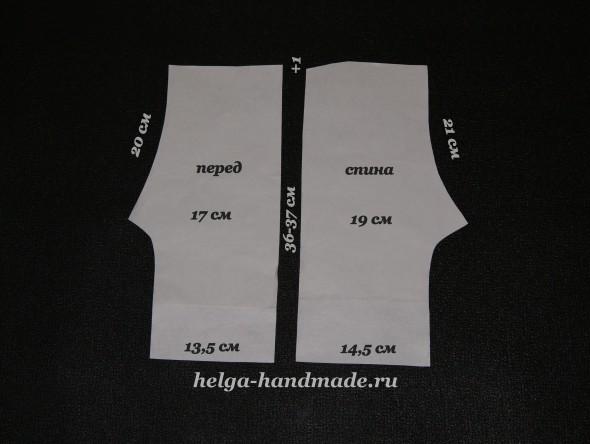 Выкройка коротеньких штанишек