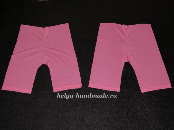 Сшиваем части штанишек