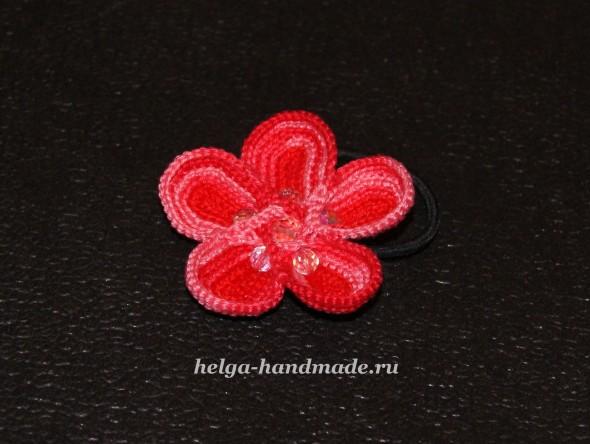 Объемный цветок крючком своими руками