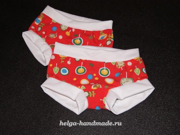 Теплые трусики с манжетами (хипстеры) для малышей своими руками