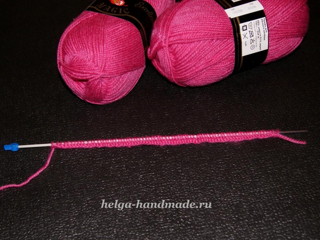 Вязание петель на шарфе