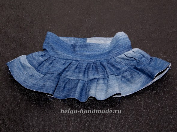 Джинсовая юбка для девочки своими руками
