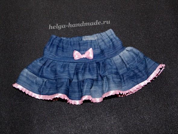 Джинсовая юбочка для девочки