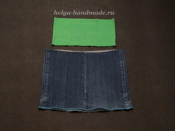 Шьем джинсовую юбку для девочки