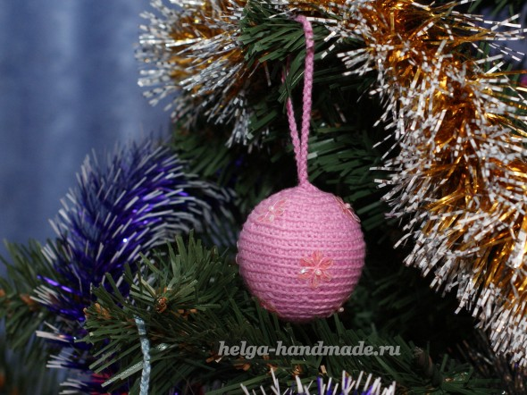 новогодние игрушки вяжем ёлочные шары крючком своими руками