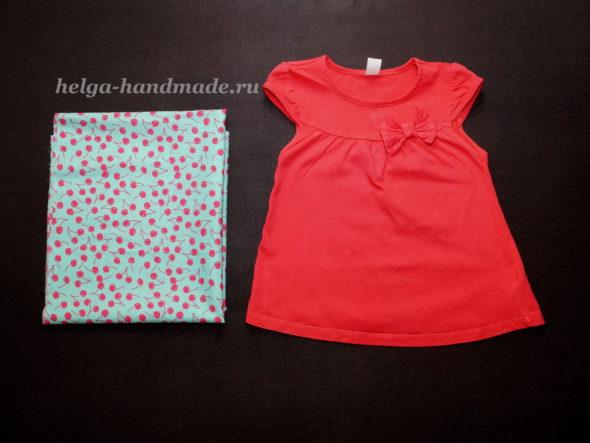 Шьем платье из футболки