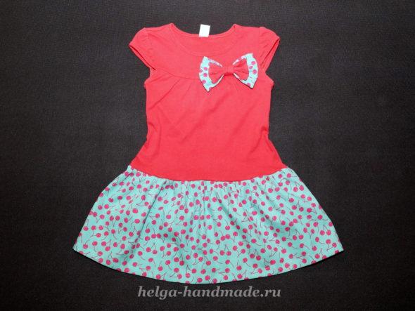 Платье из футболки для девочки