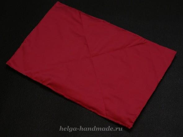 Сшиваем ткань и синтепон
