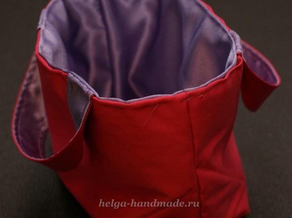 Сшиваем края сумки