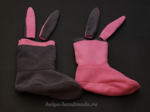 Шьем тапочки-зайчики с ушками