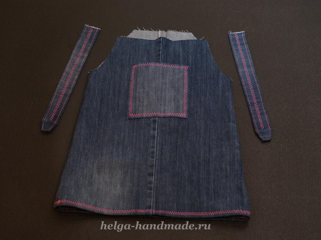 Сарафан из старых джинс для девочки своими руками
