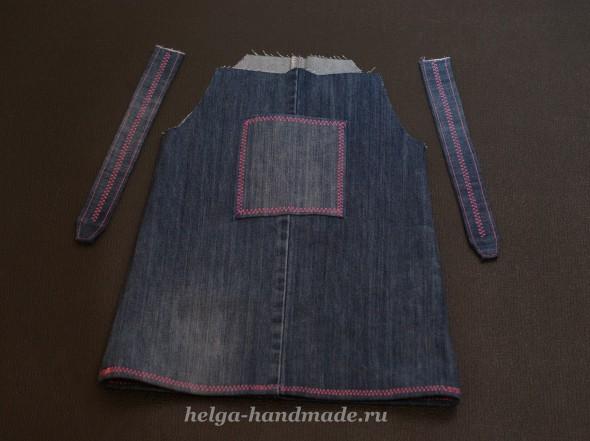 Шьем джинсовый сарафан