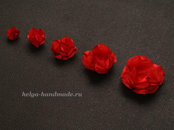 Делаем цветок из ткани. Лепестки готовы