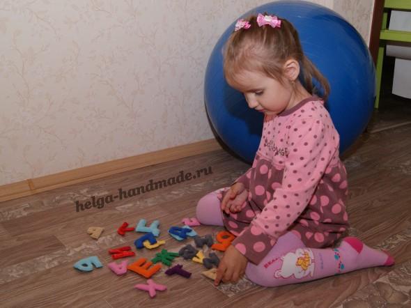 Мягкий алфавит из ткани для обучения малышей