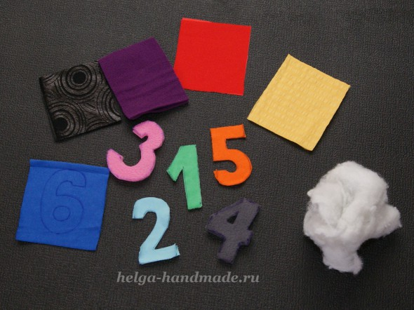 Шьем мягкие цифры из ткани