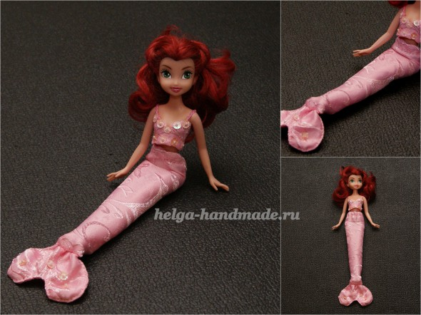 Костюм русалки для куклы Барби своими руками