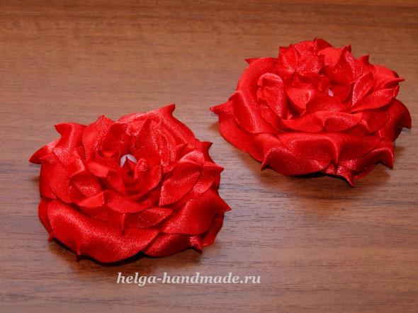 Цветы из ткани. Розы