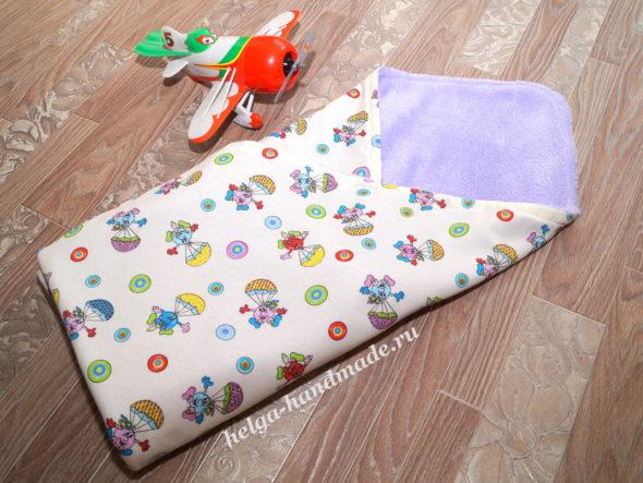 Летний плед-конверт для новорожденного