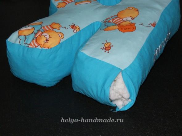 Шьем букву-подушку Я. Набиваем наполнителем