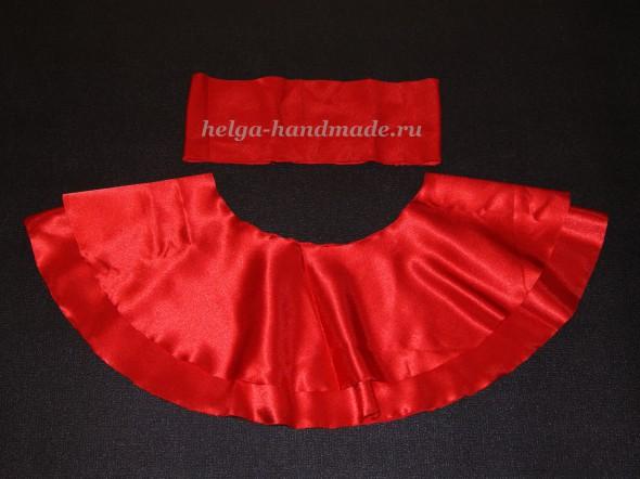 Шьем юбку-солнце для новогоднего костюма Красной шапочки