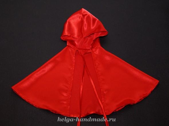 Плащ с капюшоном для костюма Красной шапочки